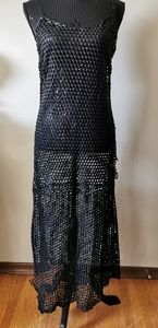 Simon Miller Ceres Perforated leather slip dress